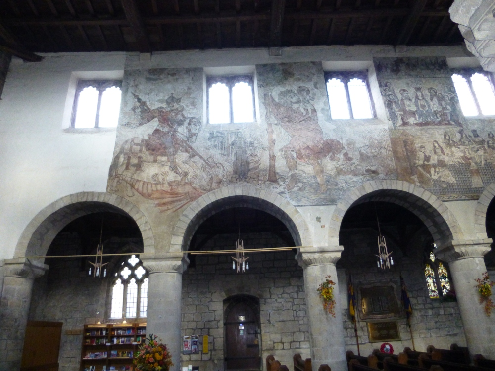 Medieval wall paintings in the Church of St Peter and St Paul, Pickering, North Yorkshire (2/5)