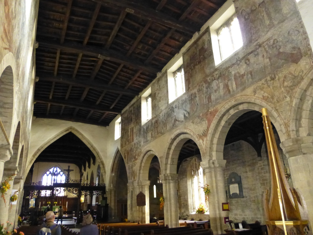 Medieval wall paintings in the Church of St Peter and St Paul, Pickering, North Yorkshire (4/5)