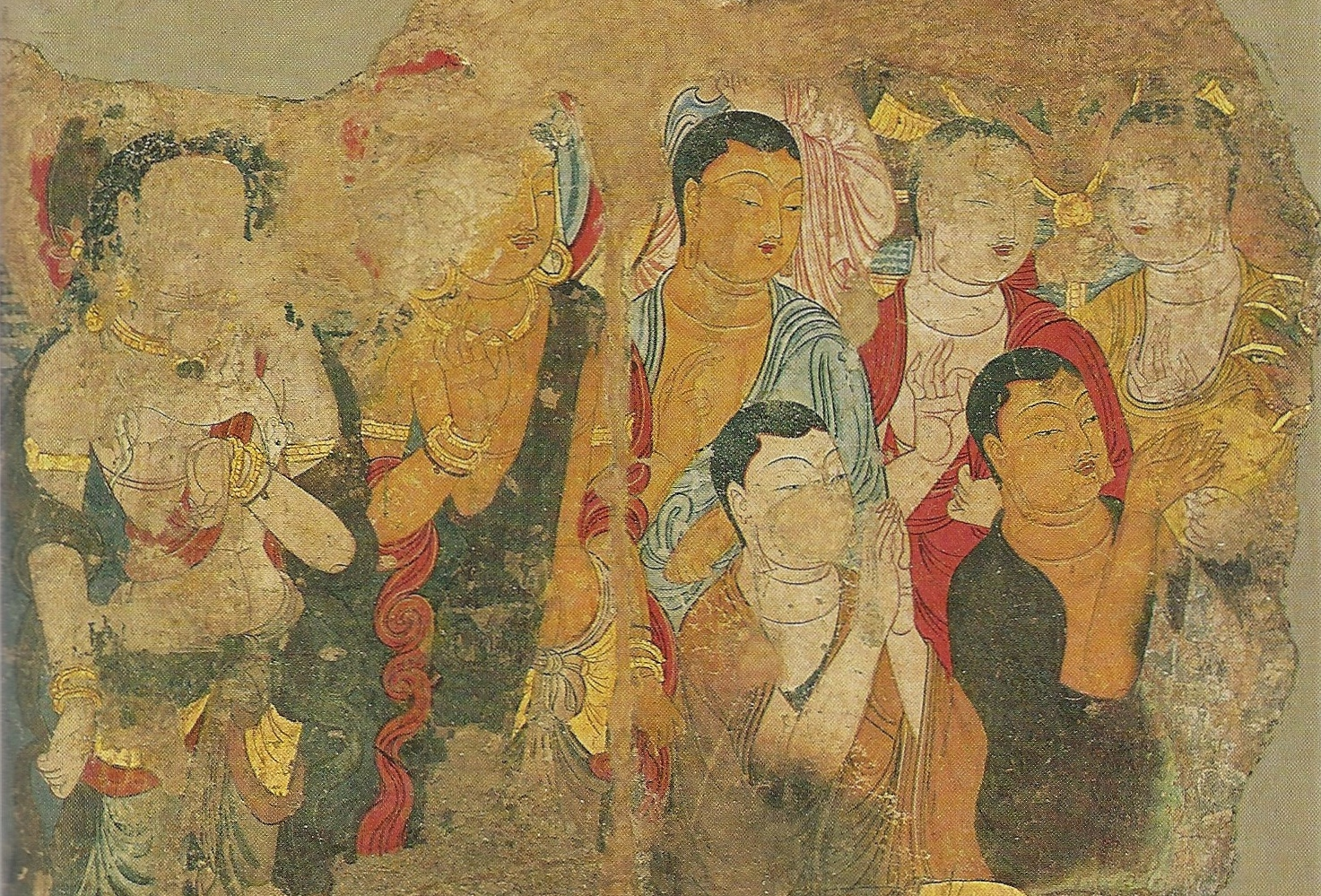Expedition silk road treasures from the hermitage the for Chinese mural painting