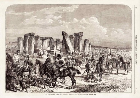 Coursing at Stonehenge in 1865